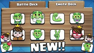 NEW EMOTE DECK!! ALL NEW EMOTE GAMEPLAY! | Clash Royale | NEW EMOTES & UPDATED LADDER FINALLY!
