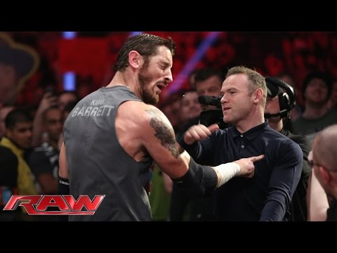 Wayne Rooney Ohrfeigt King Barrett: Raw — 9. November 2015