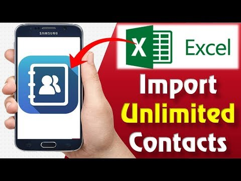How To Import Unlimited Contact From Excel To Mobile | Excel To Contact Android | Excel To Contact
