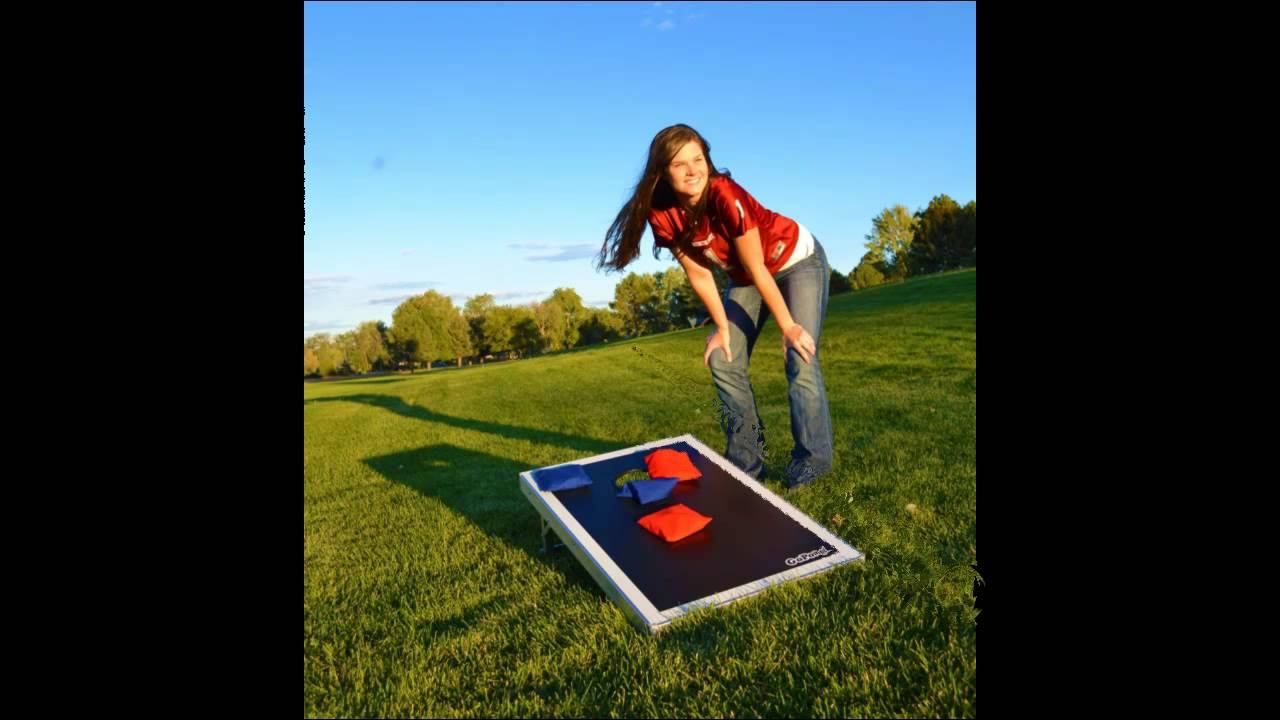 What Is CornHole GoSports Bean Bag Toss Set Cornhole Game Pro Regulation  Size Review   YouTube