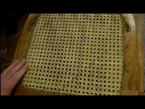 How To Install A Pressed Cane Seat Using Cane Webbing Mesh Youtube