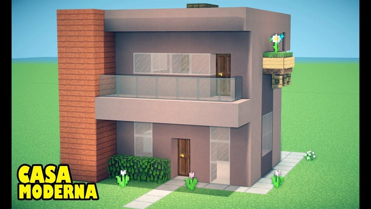 Minecraft como fazer sua primeira casa moderna 2018 youtube for Casa moderna 1 8