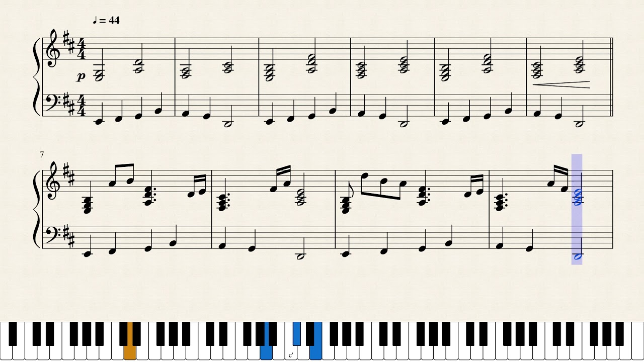 Sweden (Minecraft) - [Piano Sheet Music]