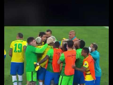 Brasil vence Colômbia aos 54 do 2° tempo, Copa América com gol de Casemiro.