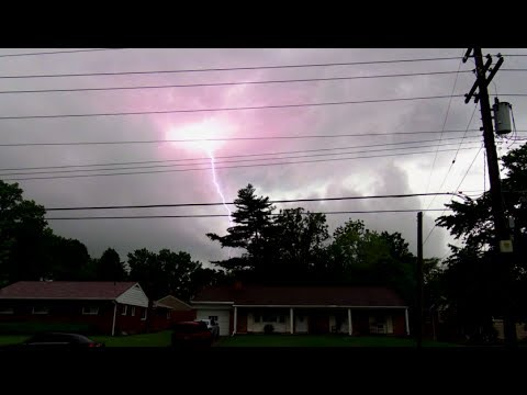 Cincinnati Staccato Lightning Storm (May 24, 2017)