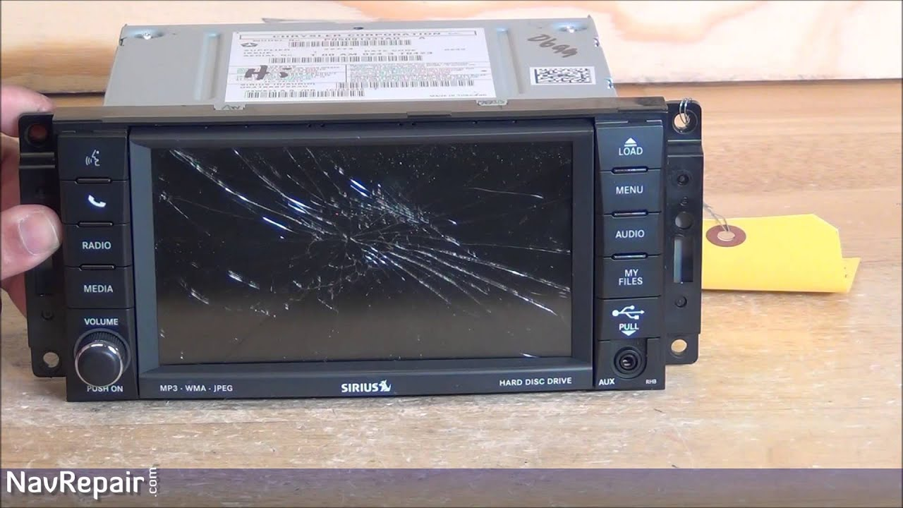 chrysler dodge jeep 430n rhb uconnect mygig gps navigation radio repair service [ 1280 x 720 Pixel ]