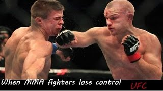 When MMA & UFC Fighters Lose Control 2015