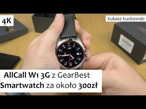 AllCall W1 3G Smartwatch z GearBest za około 300zł | Pierwsze chwile