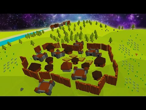 Defend the Fort!  Building a Fortress on a mini planet in SPACE!? (Little Polys Gameplay Part 1)