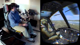 DCS Huey on the Oculus Rift DK2 / Max Flight Stick - Collective