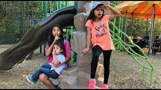 BEST HIDE AND SEEK SPOT IN playground PARK! kids fun video