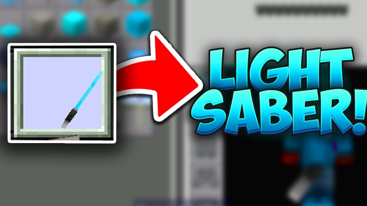 How to get a LIGHTSABER in MCPE Minecraft PE (Pocket Edition