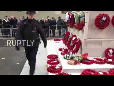 UK: Nationalists lay wreaths at Cenotaph on Remembrance Sunday