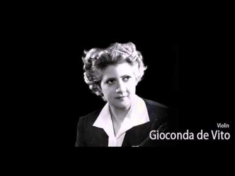 """Brahms """"Violin Concerto"""" Gioconda De Vito"""