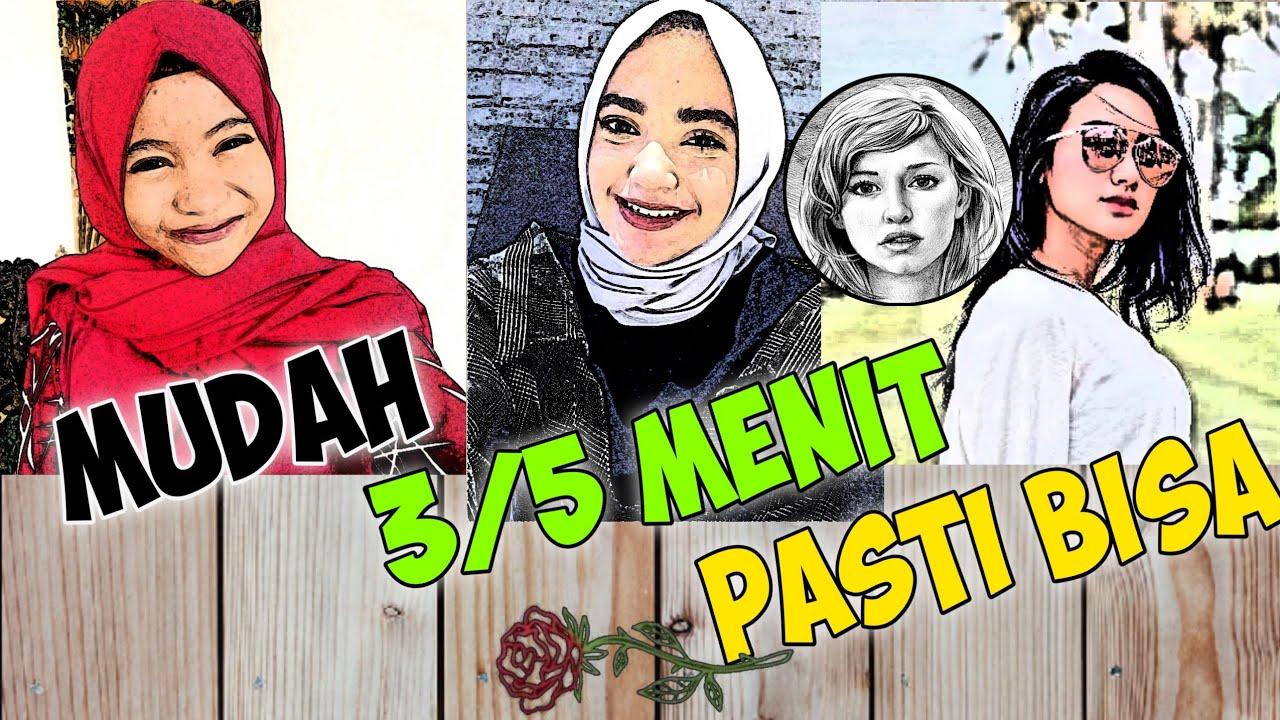 Cara Edit Foto Menjadi Kartun Di Sketsa Pencil - YouTube