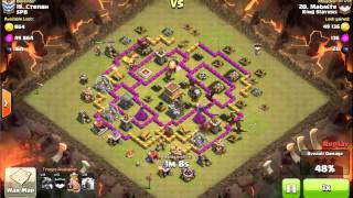 Clash of Clans - TH8 - DRAGLOON (Dragons/Balloons) with Lightning Spells - 3 Stars Clan War Attack