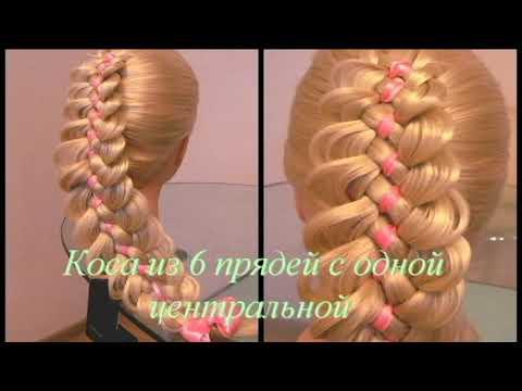 Плетение Кос Видео уроки 2014: Коса с Лентой. Weaving braids video tutorials: braid with a ribbon.