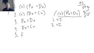 8.2  Predicate Logic:  Using the Rules of Inference