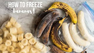 How to Freeze Bananas: 3 WĄYS | The Recipe Rebel