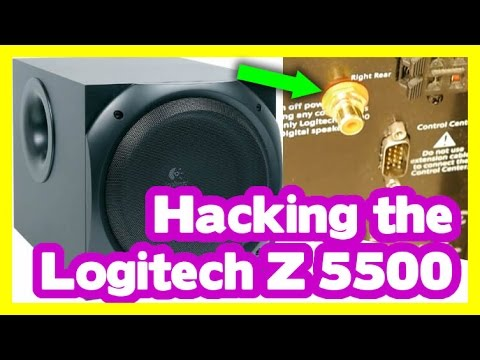 Logitech Z 5500 Hack  Aktiv    Subwoofer    umbau  Hacking The