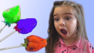 Learn Colors With Strawberry Lollipops