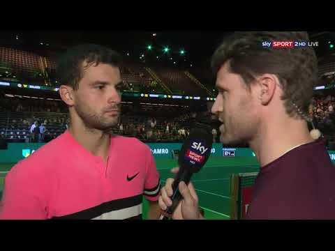 Grigor Dimitrov - on court interview after beating Andrey Rublev (QF) ATP Rotterdam, 16.02.2018.