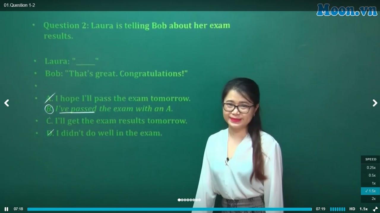 [Moon.vn] – Cô Đỗ Vân Anh – Chữa đề chính thức kỳ thi THPT Quốc Gia 2018 – Mã đề thi 401 (phần 1)
