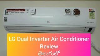 LG 1 5 ton Dual Inverter Air Conditioner Copper Condenser Demo in Telugu