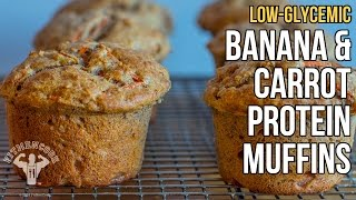 Low-gi Banana & Carrot Protein Muffins / Magdalenas Proteínas De Banana, Avena Y Zanahoria