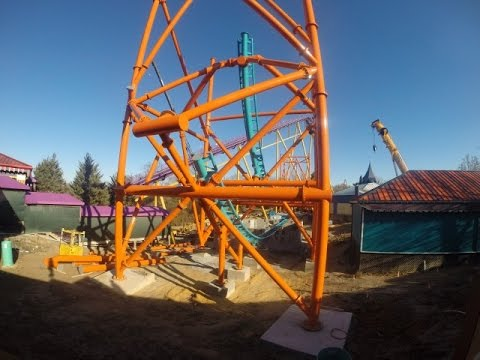 Captivating 2015 Tempesto New Roller Coaster Construction Update At Busch Gardens  Williamsburg