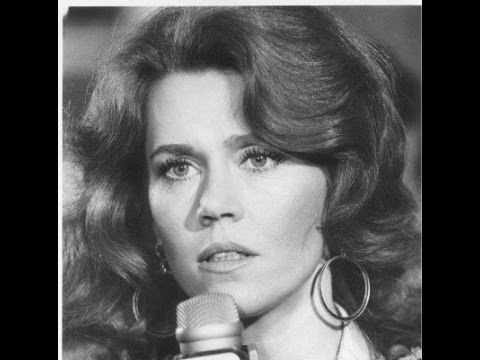 Jane Fonda speaking at a rally against the war in Vietnam 5/15/1972