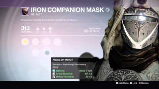 destiny iron companion mask showcase   how to get new iron banner hunter helmet