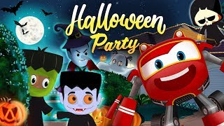 Halloween Chocolate Party with Supercar Rikki | kids Cars Cartoon Story 07