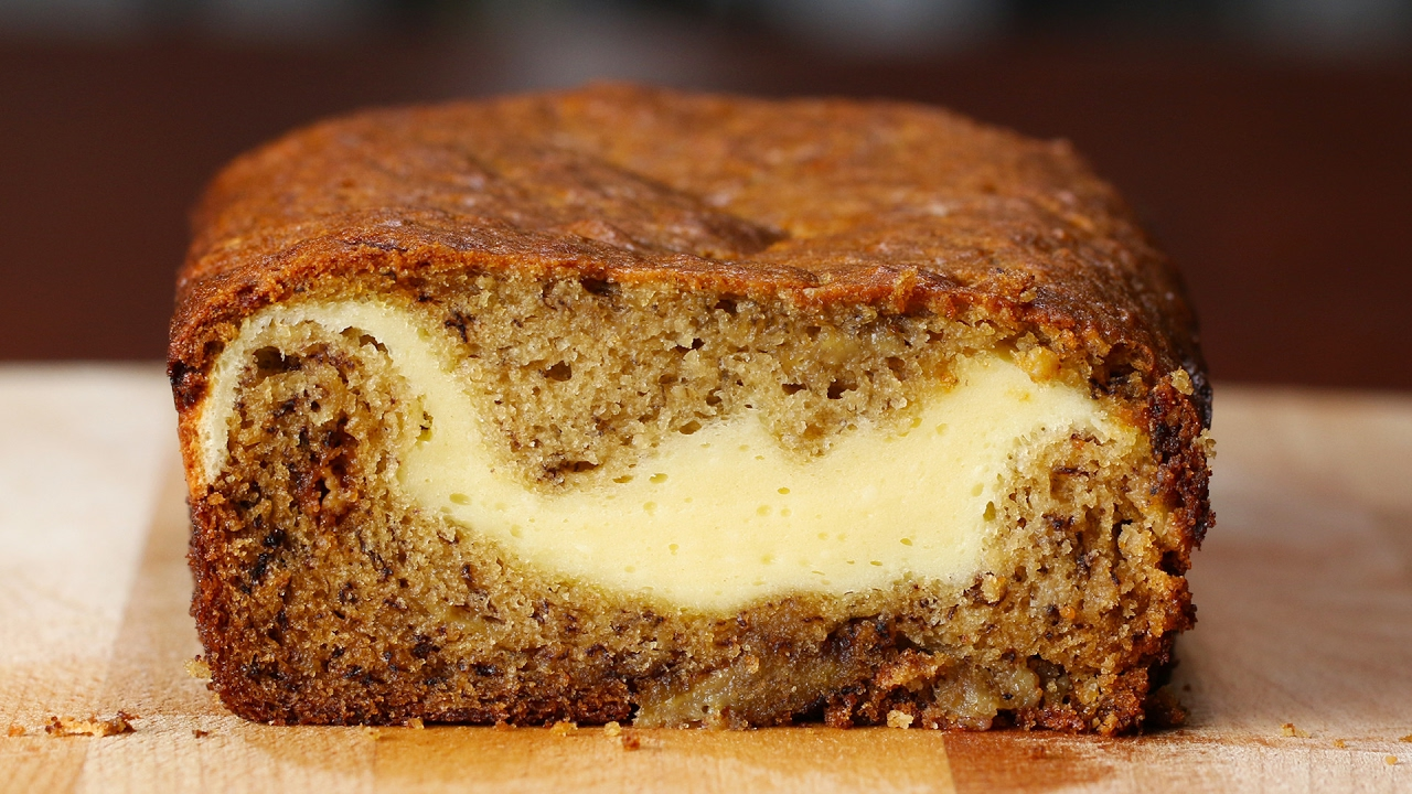 Cheesecake filled banana bread youtube cheesecake filled banana bread forumfinder Image collections
