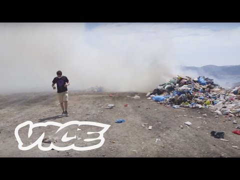 The Illegal Trash Volcano Burning in Kalymnos