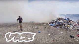 The Illegal Trash Volcano Burning in Kalymnos