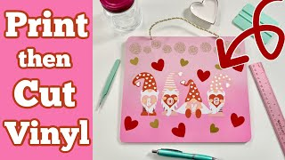 How To Use Printable Vinyl With Cricut   Print Then Cut
