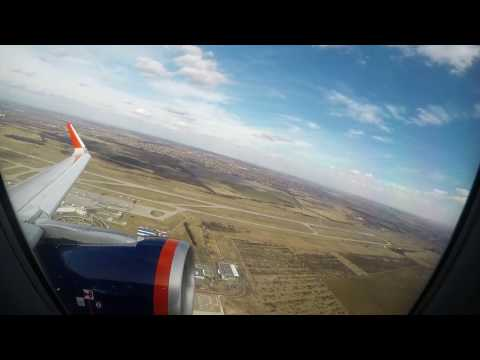 Aeroflot A-320 flight from Budapest to Moscow (Feb 2017) with light turbulence