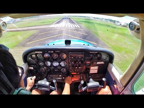 180hp Cessna 172N | My First Big Airport | VFR into Mactan Cebu