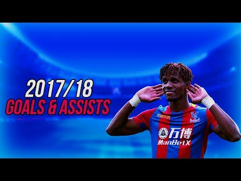 Wilfried Zaha ALL 13 GOALS AND ASSISTS 2017/18