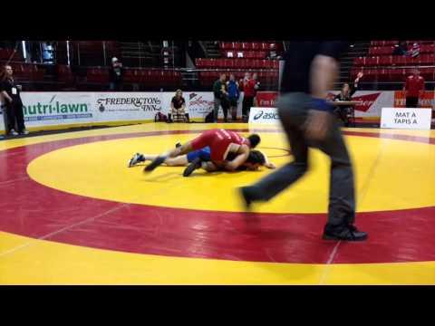 2016 Canadian Junior Championships: 74 kg Noah Erskine vs. Jesse Whalen