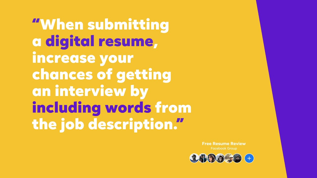 Tips from the Free Resume Review Facebook Group