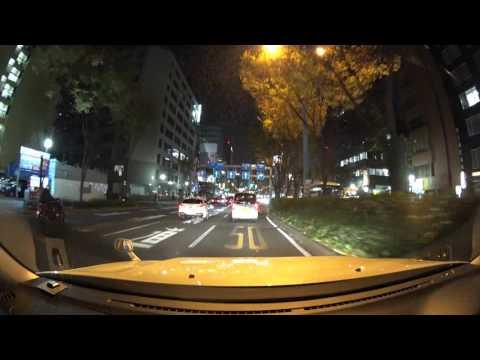 Osaka night drive 4K 2016 大阪市
