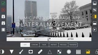 VIDEOGRADE app Iphone 4k Filmic Pro Video Grade Color grading : Snow in Columbus Ohio