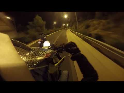 KRT - Athens by night on supermotos