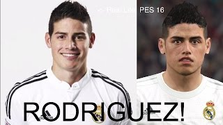JAMES RODRIGUEZ IN FIFA 16 AND PES 2016! (Face Review) #31