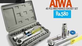 Aiwa toolkit 40 pcs combination review for cars and bikes