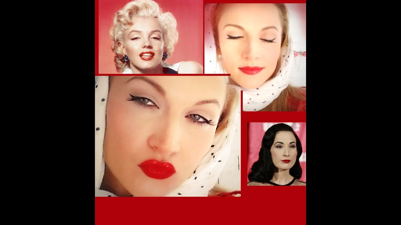 vintage make up und haar pin up makeup tutorial diy. Black Bedroom Furniture Sets. Home Design Ideas