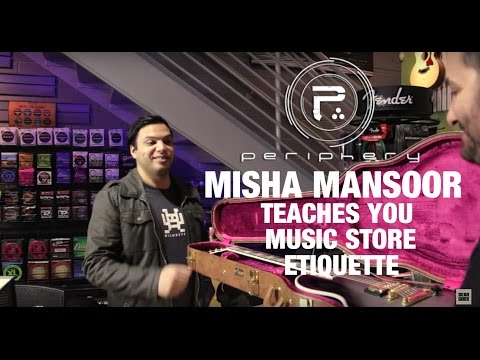 PERIPHERY's Misha Mansoor Teaches You Music Store Etiquette at The Music Zoo | GEAR GODS