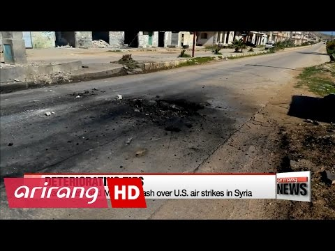 U.S. and Russia clash over Washington's military action in Syria